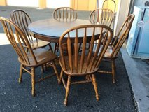 Round Pedestal Dining Table and Six Chairs - Delivery Available in Tacoma, Washington