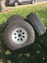 Goodyear Kevlar 35x12.50x15 Tires +Wheels 4each & One Spare in Fort Carson, Colorado