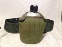 Army Military Style Canteen Water Bottle 1Q w Belt Pouch Cover Scout H in Fort Campbell, Kentucky
