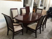 6pc Cherry Oval Upholstered Dining Table set in Joliet, Illinois