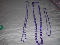 3 Purple Long Beaded Necklaces! in Spring, Texas