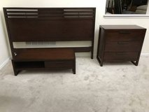 3pc Dark Cherry King Size Bed S in Bolingbrook, Illinois