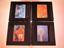 4 Retro 1950S Christmas Graphics Glass Slides - 35mm Holiday Decor Art in Brookfield, Wisconsin