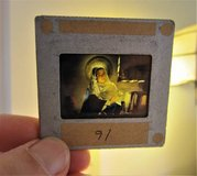 27 CHRISTMAS 35mm COLOR GLASS Slides Cathedral Pictures Nativity Story in Brookfield, Wisconsin