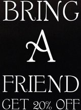 BRING A FRIEND 20% OFF SALE GOING ON NOW in Brookfield, Wisconsin