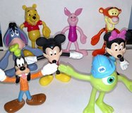 Disney Bendables Tigger Mickey Minnie Mike Goofy Pooh Bear Piglet in Chicago, Illinois