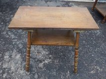 PRIMITIVE LOOKING ALL WOOD SIDE/END TABLE in Chicago, Illinois