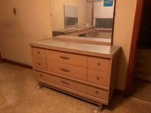 Reduced...Mid Century Modern Dresser/Mirror and Dressing Table in Chicago, Illinois