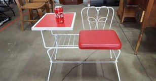 Cute Wrought Iron Chair And Side Table - Delivery Available in Tacoma, Washington
