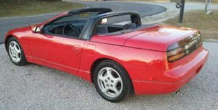 Ultra Red '95 Nissan 300ZX Convertible V6 Automatic Cold A/C Low Miles in Cherry Point, North Carolina