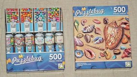 NEW Lot of 2 Puzzle Bug 500 Piece Jigsaw Puzzles Seashells Candy Gumball Machine in Joliet, Illinois