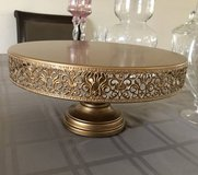 "Victoria Gold 14"" Metal Cake Stand in Tinley Park, Illinois"