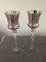 "Pink Mercury Pillar Glass Candle Holder Votive 13.5"" Tall in Tinley Park, Illinois"