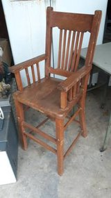 Antique Wood High Chair in The Woodlands, Texas