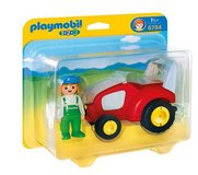 New! PLAYMOBIL 1.2.3 Tractor Vehicle w/Farmer Set #6794 in Naperville, Illinois