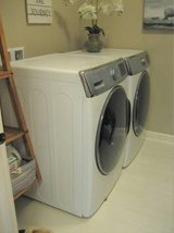 High Capacity SAMSUNG Washer and Gas Dryer - White in Oswego, Illinois
