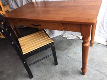 Solid maple desk table and chair in Fairfield, California