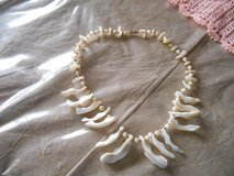 """Genuine Sea Shell Mother Pearl 18"""" Choker Necklace with screw type clasp. in Spring, Texas"""