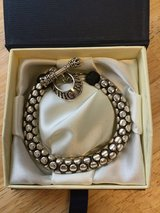 King Baby Leather & Silver Snake Link Bracelet w/Toggle Clasp New No Tag in Westmont, Illinois