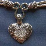Lia Sophia Love Dust Necklace with Crystal & Silver Heart Pendant in Westmont, Illinois