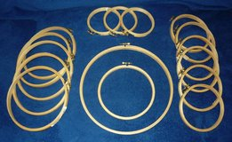"""16 Embroidery Hoops - 3 3/4""""-9 3/4"""" in Bartlett, Illinois"""