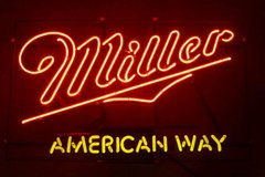 Miller Beer Neon Sign in Schaumburg, Illinois