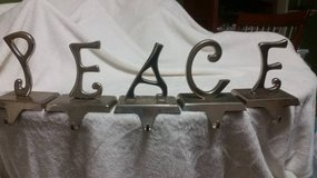 PEACE 5 pc. Stocking Holder Set in Cleveland, Texas