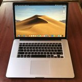 "15"" Late 2013 MacBook Pro Retina 256gb flash drive 8gb ram i7 quad in Oceanside, California"