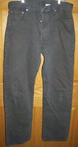 levi's 501xx button fly brown jeans men's size 36x34 in Palatine, Illinois