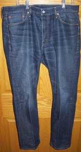 levi men's 513 jeans 36x30 100% cotton gently pre-owned in Palatine, Illinois