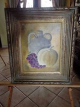 Rustic Fruit Painting and beautiful ornate frame in Las Cruces, New Mexico