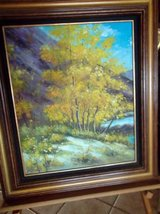 Large Oil painting in nice wood frame in Las Cruces, New Mexico
