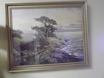 Robert Wood signed print 1945 Carmel in Las Cruces, New Mexico