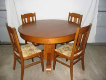1850s Oak table and 4 matching oak chairs in Colorado Springs, Colorado