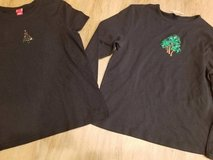 2 holiday ladies stretchy shirts in Oceanside, California