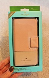 NWT - Kate Spade Leather Wrap Folio iPhone 7s Case, Rose Gold Pink,  MSRP $75 in Joliet, Illinois