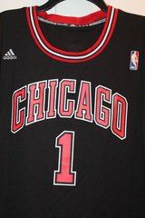 Chicago Bulls Black Jersey -- #1 - Derrick Rose - adidas XL in Naperville, Illinois