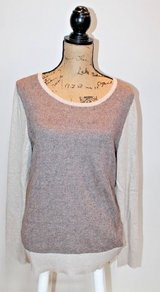 Eddie Bauer 2-Tone Lambswool Blend Crewneck Sweater - Soft! Large in Chicago, Illinois