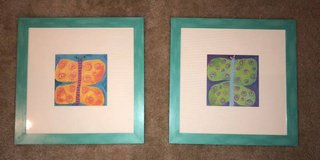 """Set of 2, Butterfly Wall Hangings / Artwork, 24""""x24"""" in Houston, Texas"""