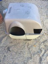 Free Large enclosed  kitty liter container in Yucca Valley, California