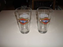"""MINT """"2"""" Milwaukee Brewers Miller Park Logo 2-Sided Pint Glasses NOS in Brookfield, Wisconsin"""