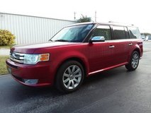 Red 2009 Ford Flex Limited 7-Pass 3 Row SUV V6 Sunroof Leather Loaded! in Cherry Point, North Carolina