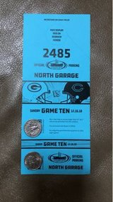 Bears vs Packers North Garage Parking Pass in Plainfield, Illinois