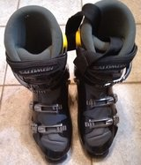 mens downhill ski boots sz 30.5 salomon evolution 2 9.0 black metal alloy clasps in Palatine, Illinois