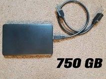750GB Portable External Hard Drive in Fort Campbell, Kentucky