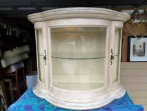 Bow Front Glass Display Cabinet in Orland Park, Illinois