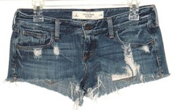 Womens 2 Abercrombie Cutoff Distressed Flap Pocket Daisy Dukes Booty Shorts in Yorkville, Illinois