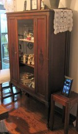Antique Cabinet for China, Crystal, Collectibles, etc. in Oswego, Illinois