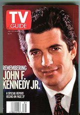 Vintage 1999 TV Guide Magazine July 31-August 6 1999 John F. Kennedy Jr. in Yorkville, Illinois
