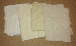 4 Vintage Lace Crochet Tablecloths in Bartlett, Illinois